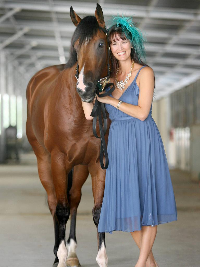 John Singleton's wife Julie with Churchill Downs in 2006. Picture: Peter Wallis