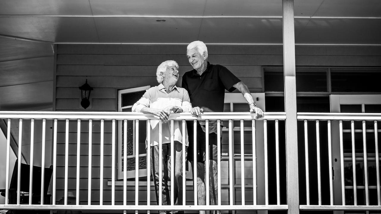Peter and Desley Stewart enjoying each other's company. Photo: Charlotte Gaspar Photography