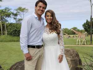 In pictures: Bindi Irwin and Chandler Powell tie the knot