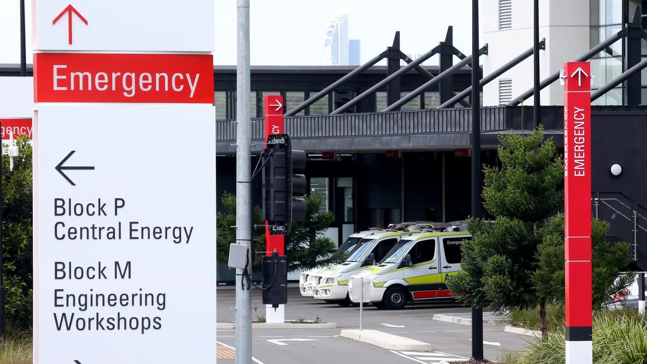 Outside the Gold Coast University Hospital Emergency Department. Photo: Scott Fletcher