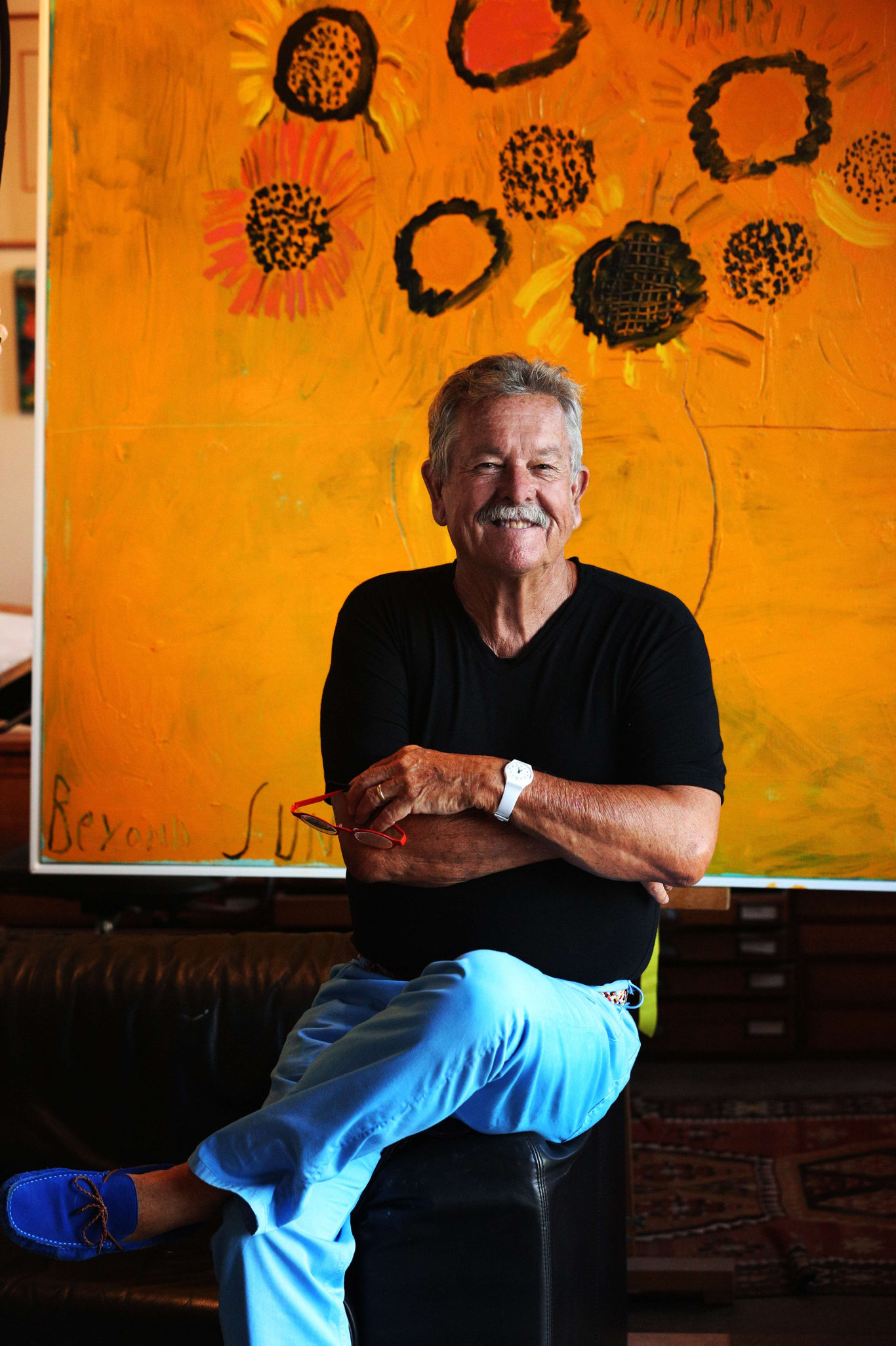 Former Maclean Public School pupil and icon of the Australian art world, Ken Done. Photo: Stuart Spence.