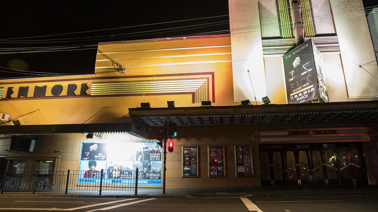 Venues such as Sydney's Enmore Theatre are usually swarming with people. Picture: Dylan Robinson