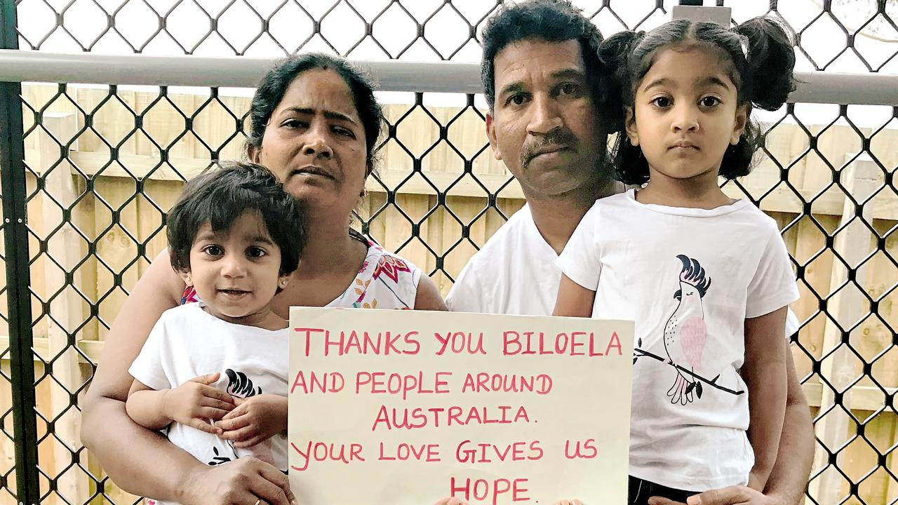 STILL DETAINED: Nades Murugappan, wife Priya and children Kopika and Tharunicaa have had a small win in court today, but it doesn't appear they'll be coming home any time soon. Photo: File