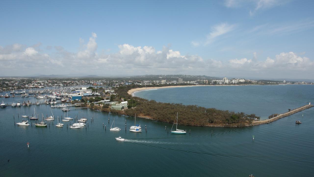 Aerial photographs of Mooloolaba harbour entrance, Mooloolaba, Mooloolaba beach, Pt Cartwright beach and Kawana Pocket beach. Picture: Nicholas Falconer
