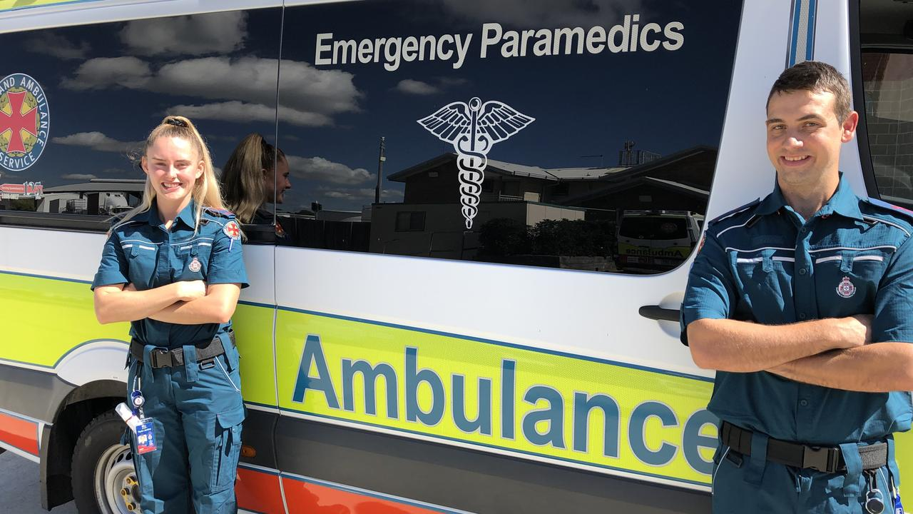 NEW RECRUITS: Taylor Jardine and Shane Benjamin will join the Bundaberg paramedics team in the coming weeks.