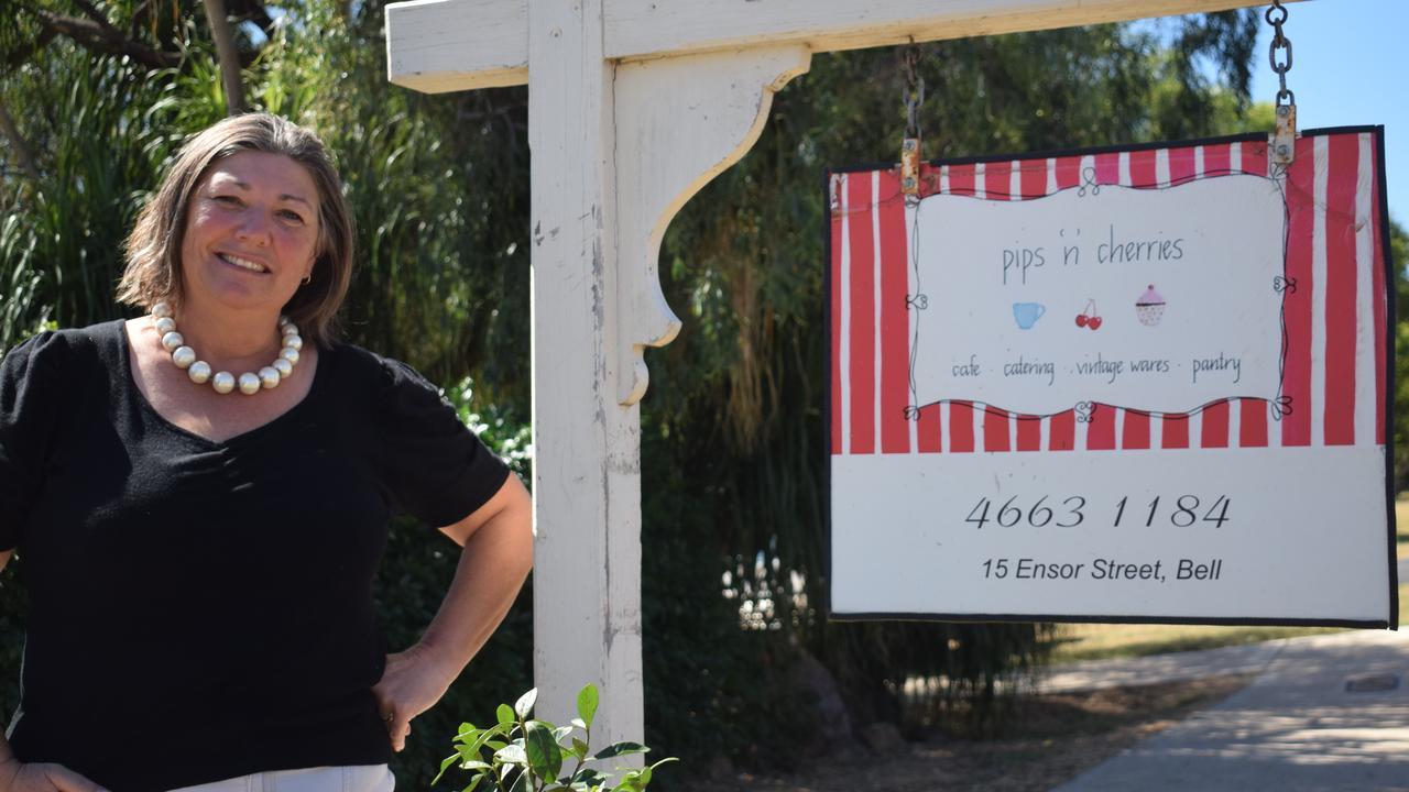 Owner Kate Toomer-Ford outside of Pips 'N' Cherries in Bell