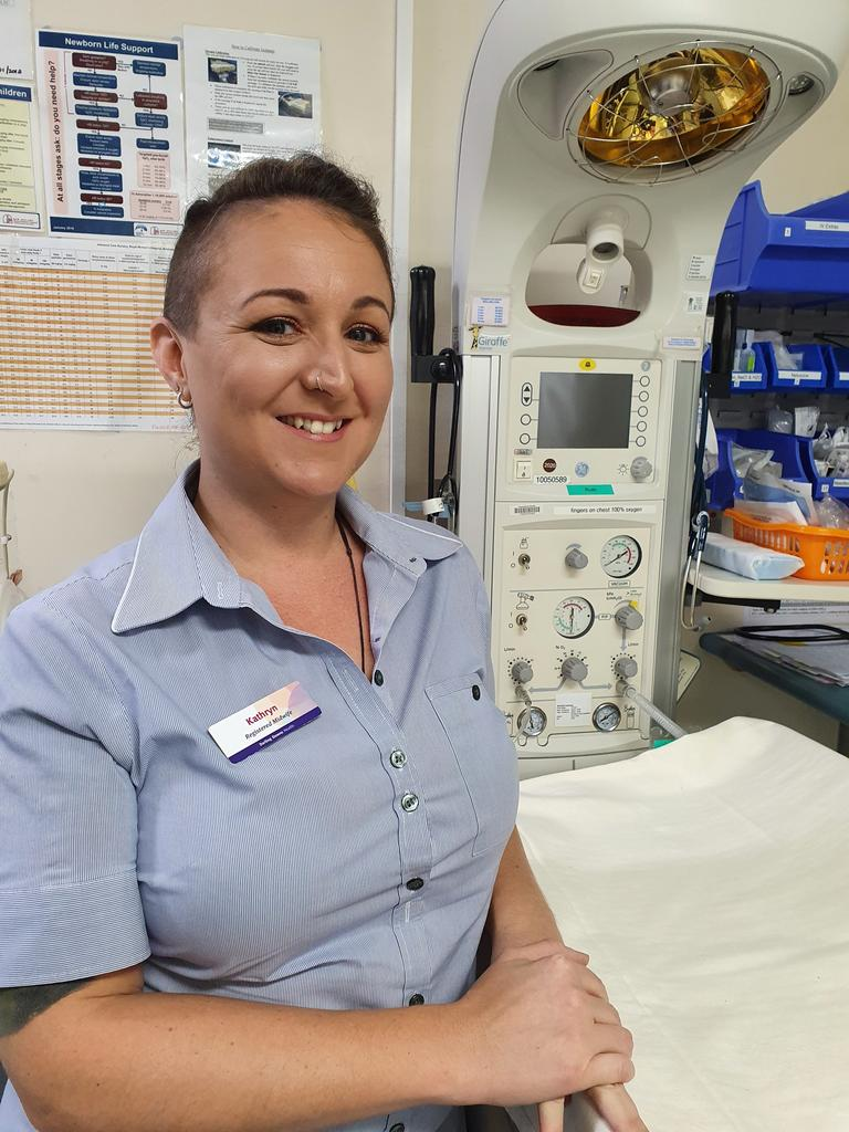 LOCAL HEALTHCARE WORKER: Kathryn Curtis is a midwife at the Kingaroy Hospital. Photo: Darling Downs Health