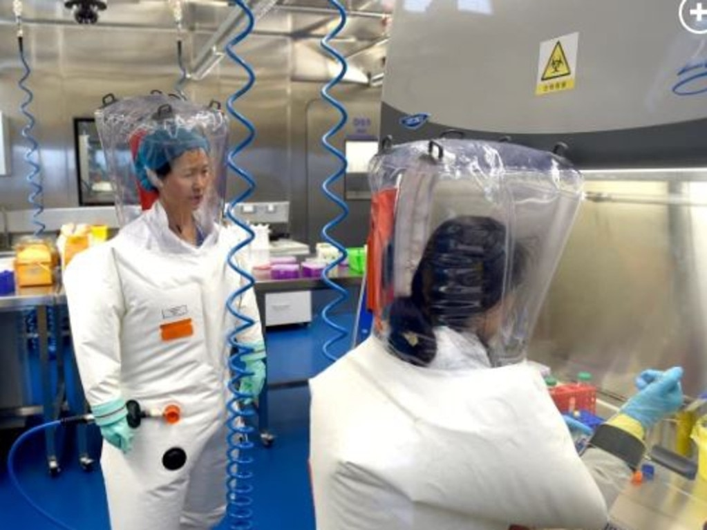 Researchers in the Wuhan lab. Picture: US EPA