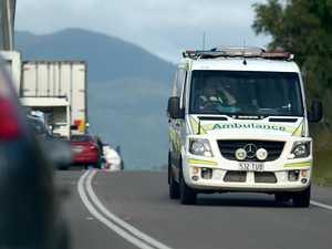 Paramedics treat patients at scene of four-vehicle crash