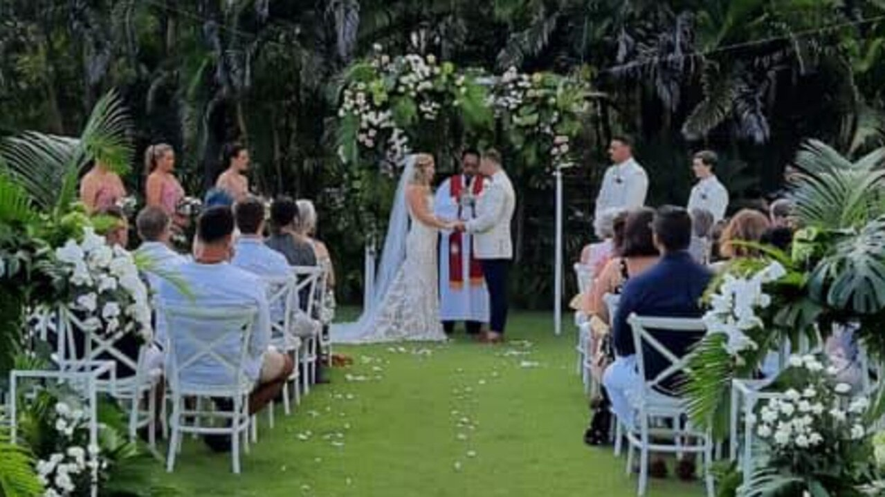 The Muir's Bali wedding ended in seven guests becoming infected with COVID-19. Picture: Jess Muir