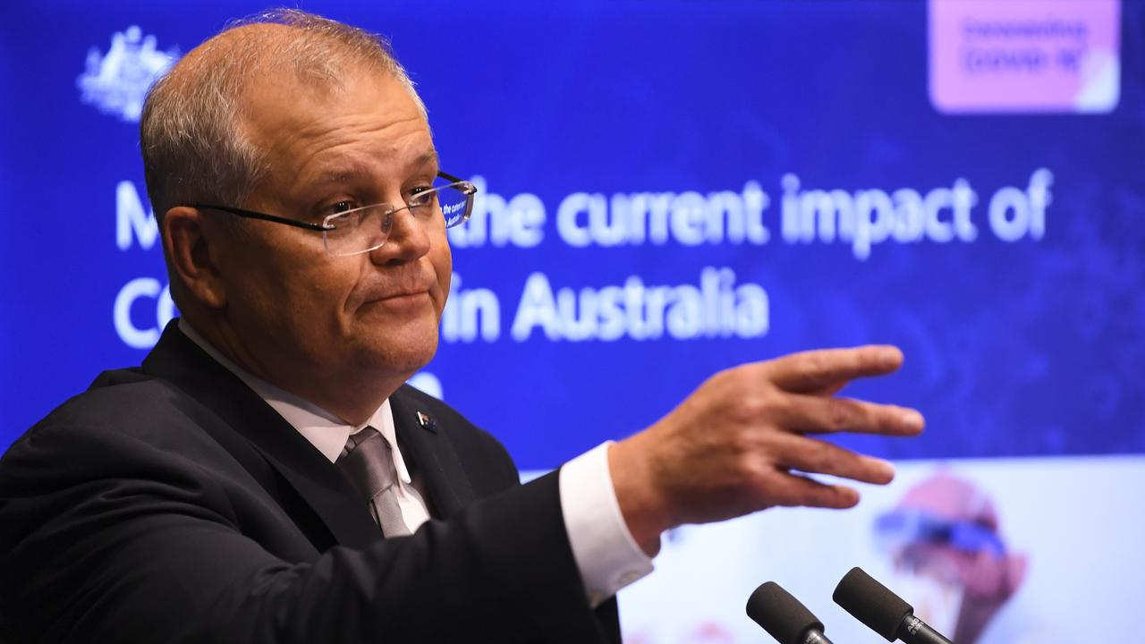 Scott Morrison said at least 40 per cent of Australians would need to download the app for it to be effective (AAP Image/Lukas Coch)