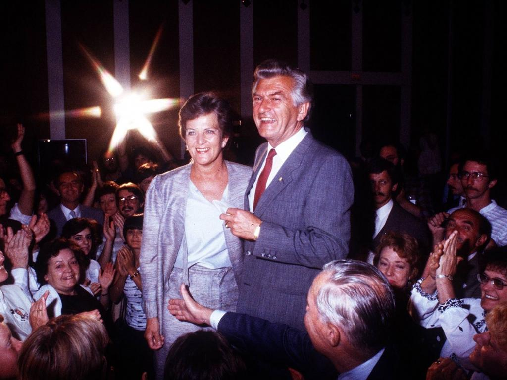 Bob Hawke with former wife Hazel Hawke, who died in 2013 after battling the dementia.