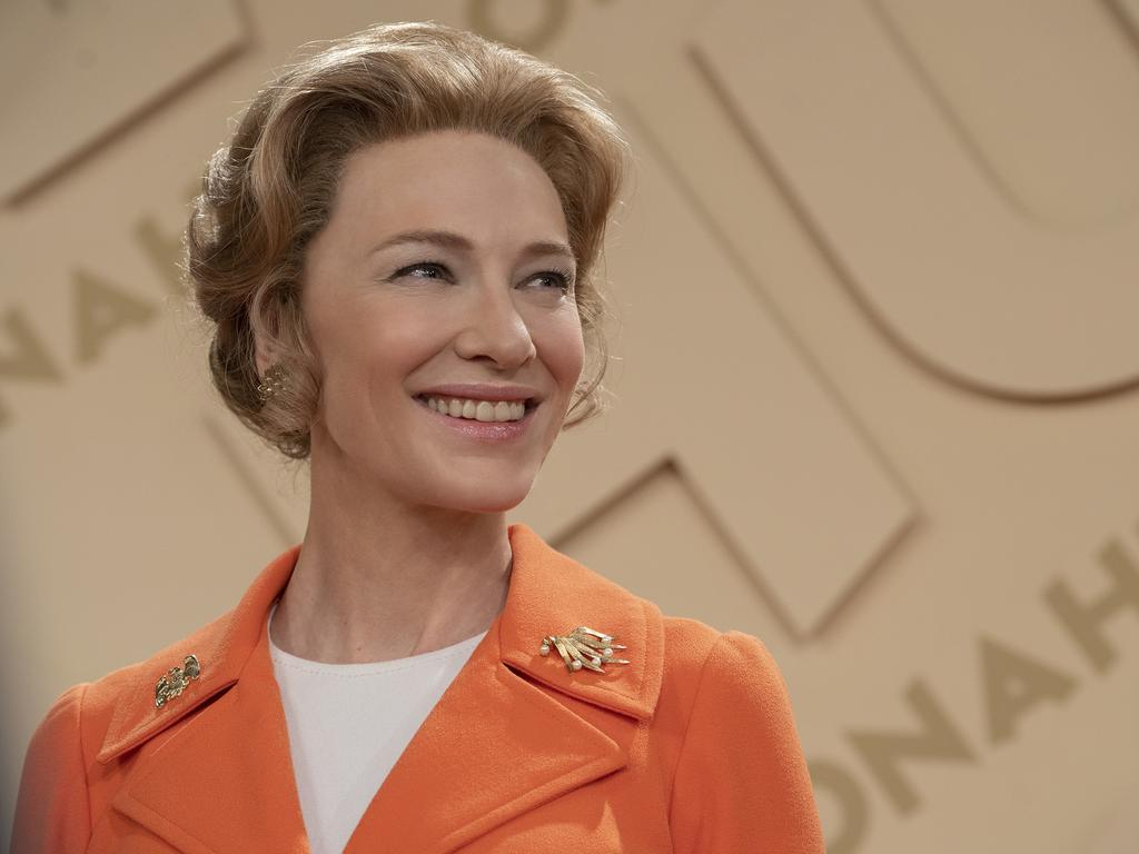 Cate Blanchett as Phyllis Schlafly in a scene from the TV series Mrs America. Picture: Supplied by Foxtel.
