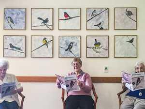 Dougherty Villa's birds spread their wings