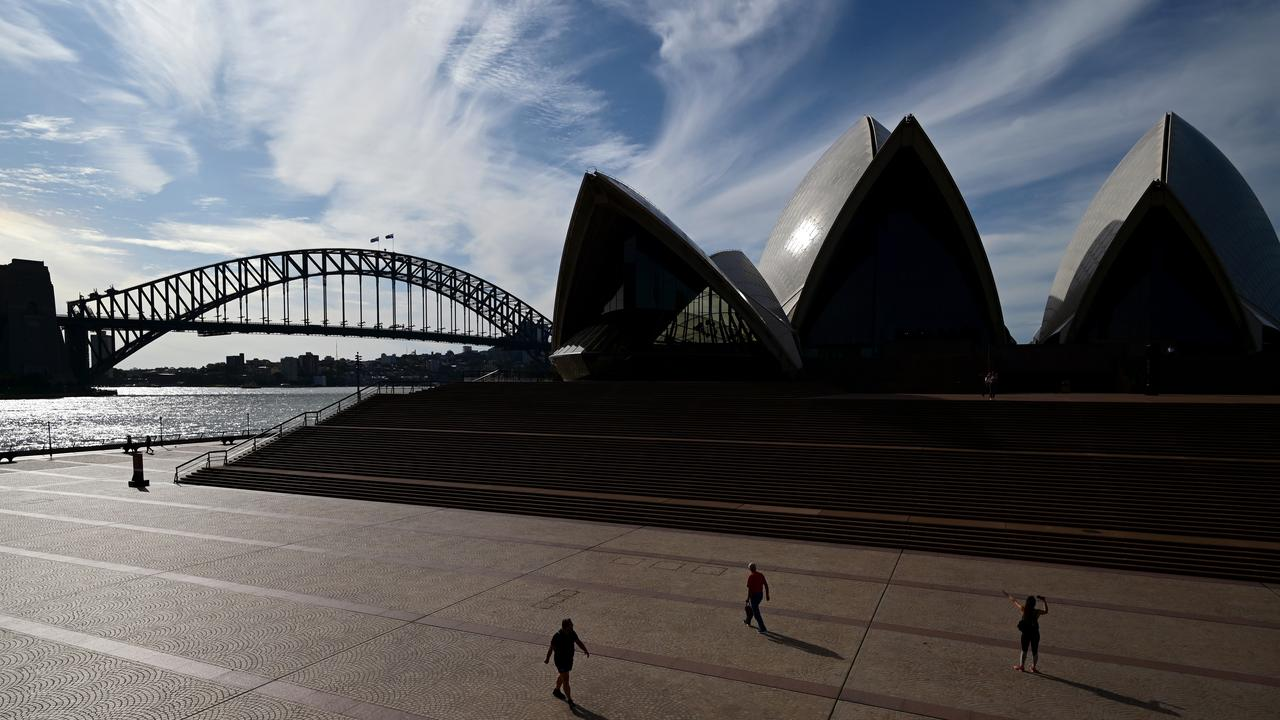 Sydney has become a ghost town during the government imposed shutdown. Picture: AAP