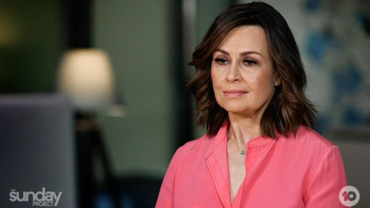 Lisa Wilkinson on The Sunday Project. Picture: Network 10