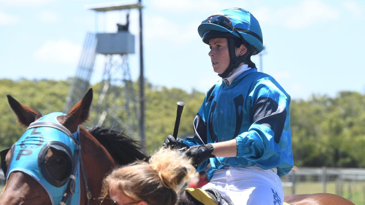Kasie Stanley rides Tudor Sunrise to victory at the Ballina Boxing Day races.