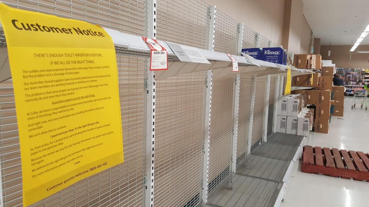 Grocery aisles have been stripped bare in recent weeks, although stock is slowly returning to shelves.