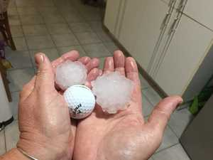 Paramedics called for man hit by hail in the head