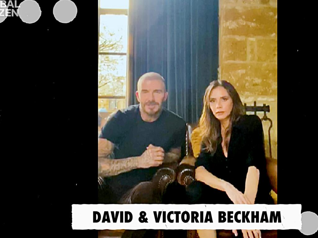 The Beckhams shot their video in portrait mode. Picture: Getty Images