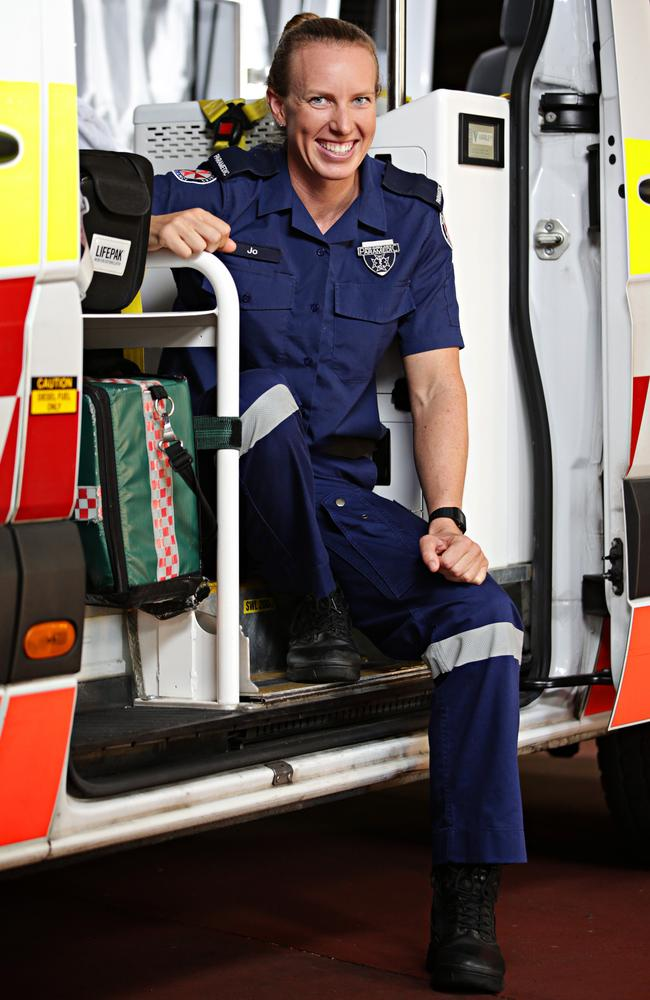 Jo Brigden-Jones at Balgowlah paramedic unit. Picture: Adam Yip