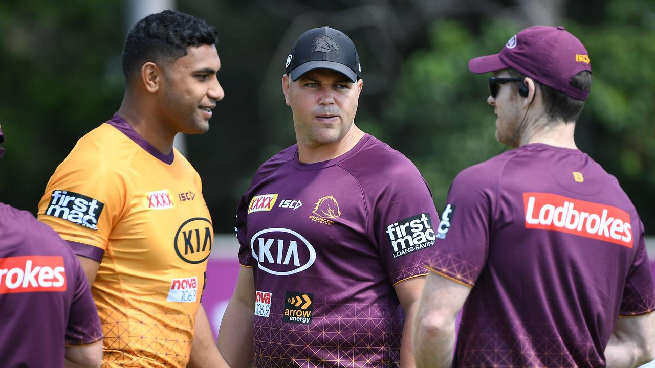 Coach Anthony Seibold and the Broncos could relocate to the Northern Rivers ahead of the NRL season's planned relaunch. Picture: Dan Peled/AAP