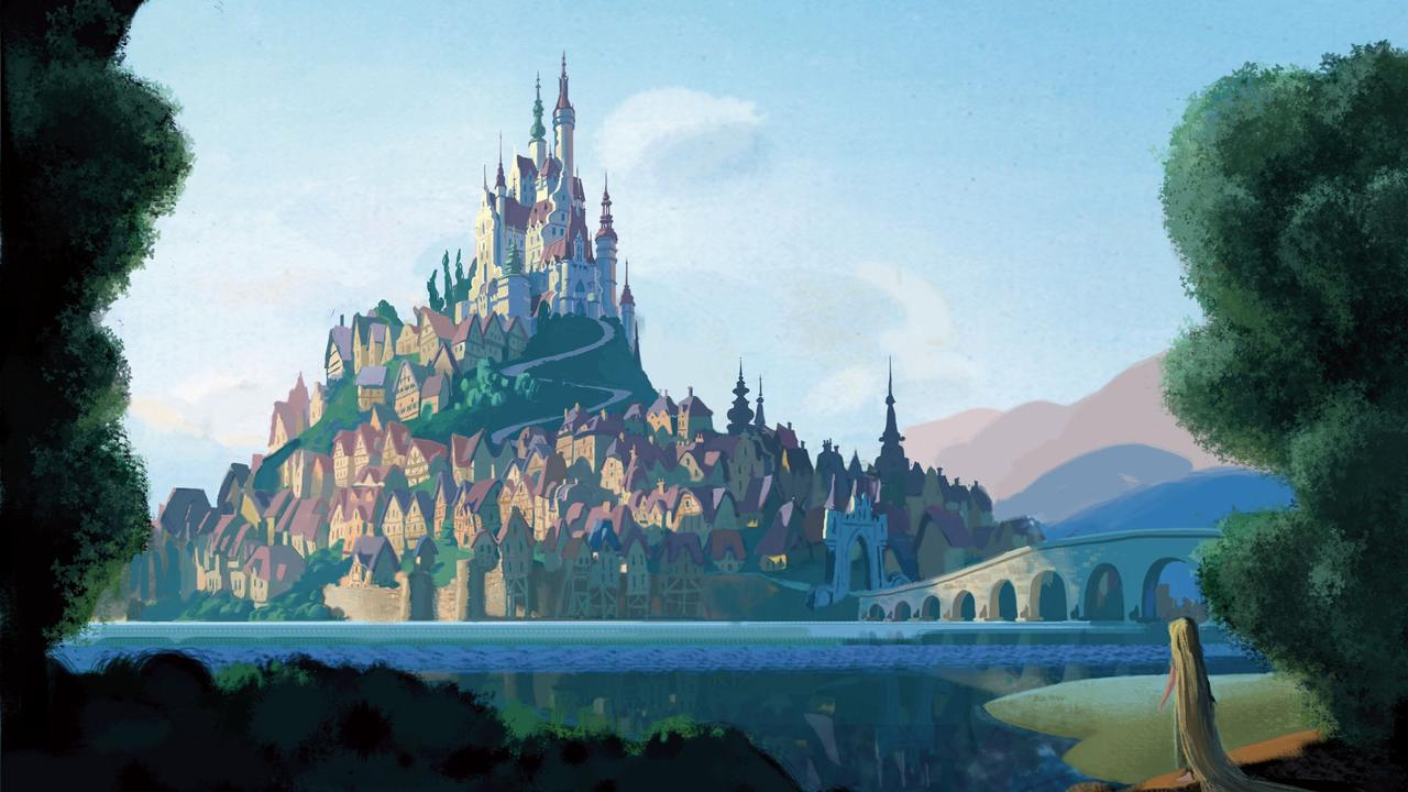 Social media users likened Rapunzel's castle as the ultimate self-isolation.