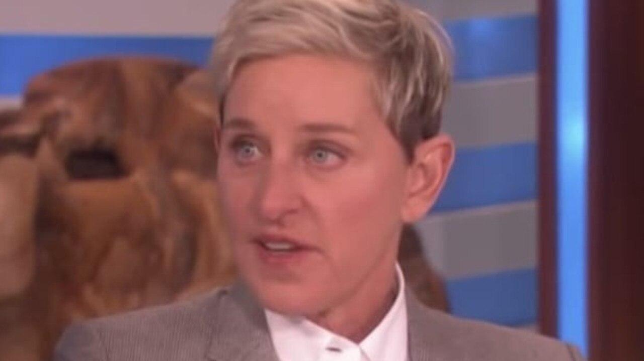 Ellen DeGeneres on her show.