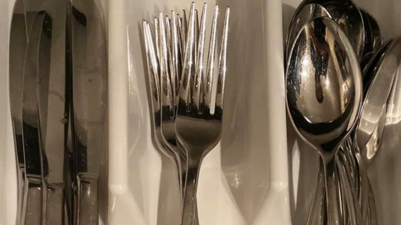 A dad was slammed for putting his knives on the left instead of forks. Picture: Facebook / How To Dad