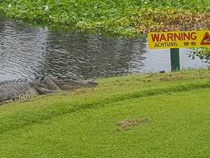 How's this for a golf course water hazard?