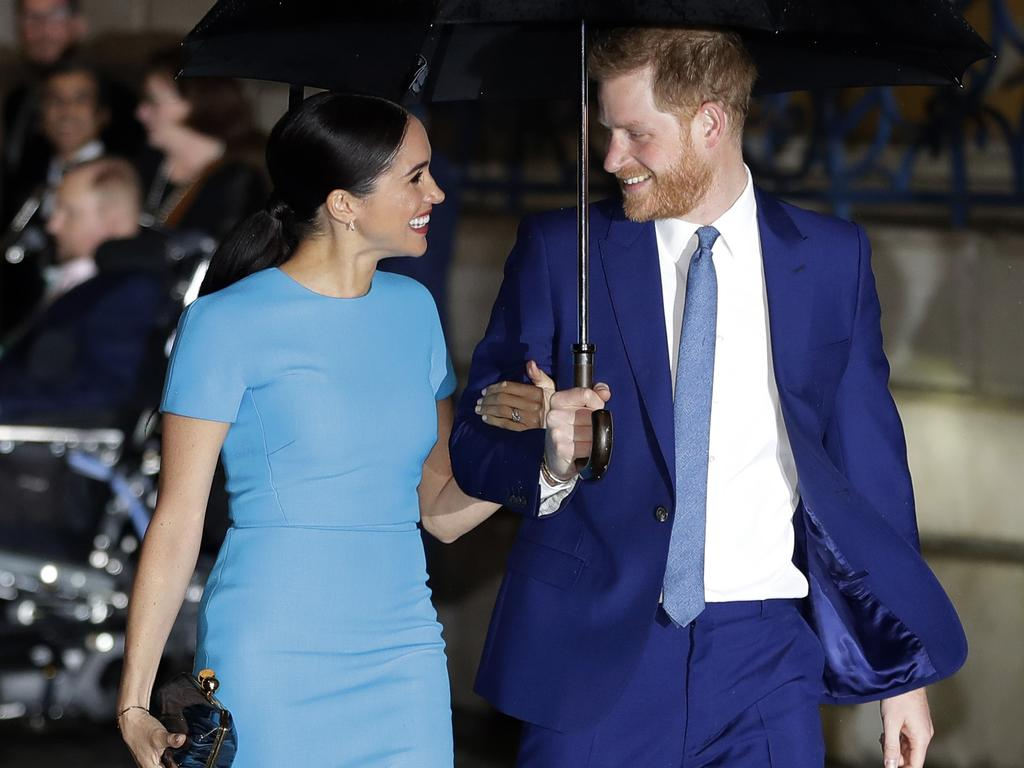 Britain's Prince Harry and Meghan Markle have been spotted in sunny Los Angeles delivering meals to the critically ill during the coronavirus pandemic. Picture: AP Photo/Kirsty Wigglesworth, file