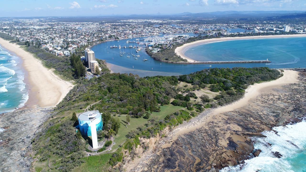 DRONE: Aerial photo of Point Cartwright and Mooloolaba Spit.