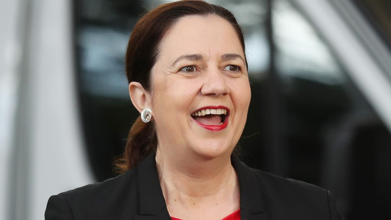 Premier Annastacia Palaszczuk says she is overjoyed after Queensland recorded no new cases of coronavirus in the past 24 hours. Picture: Annette Dew