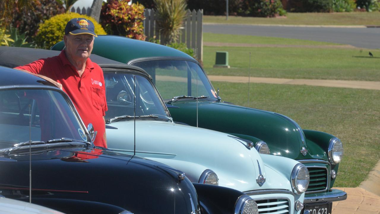 Ray Bakes has spent a number of years collecting Morris Minors. He had four of them on his front lawn on Friday as a mini car show for those driving past.
