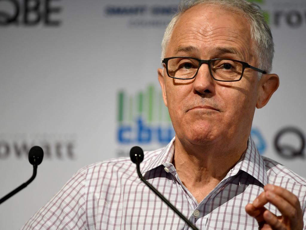 Former prime minister Malcolm Turnbull.