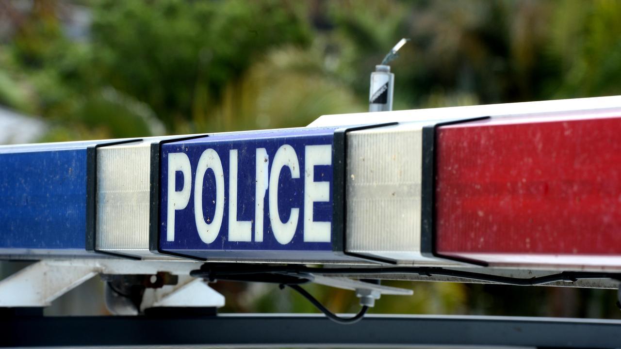 Police generic, car, flashing lights