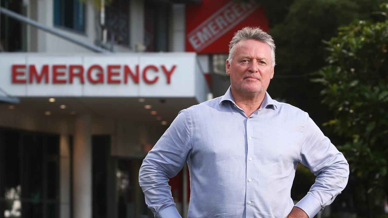 Member for Cairns Michael Healy in front of the Cairns Hospital Emergency Department. PICTURE: BRENDAN RADKE