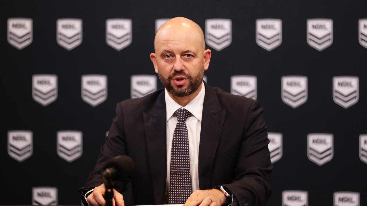NRL CEO Todd Greenberg has stepped down. Picture: Matt King/Getty Images