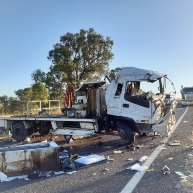 Truck roll over between Banana and Biloela yesterday afternoon