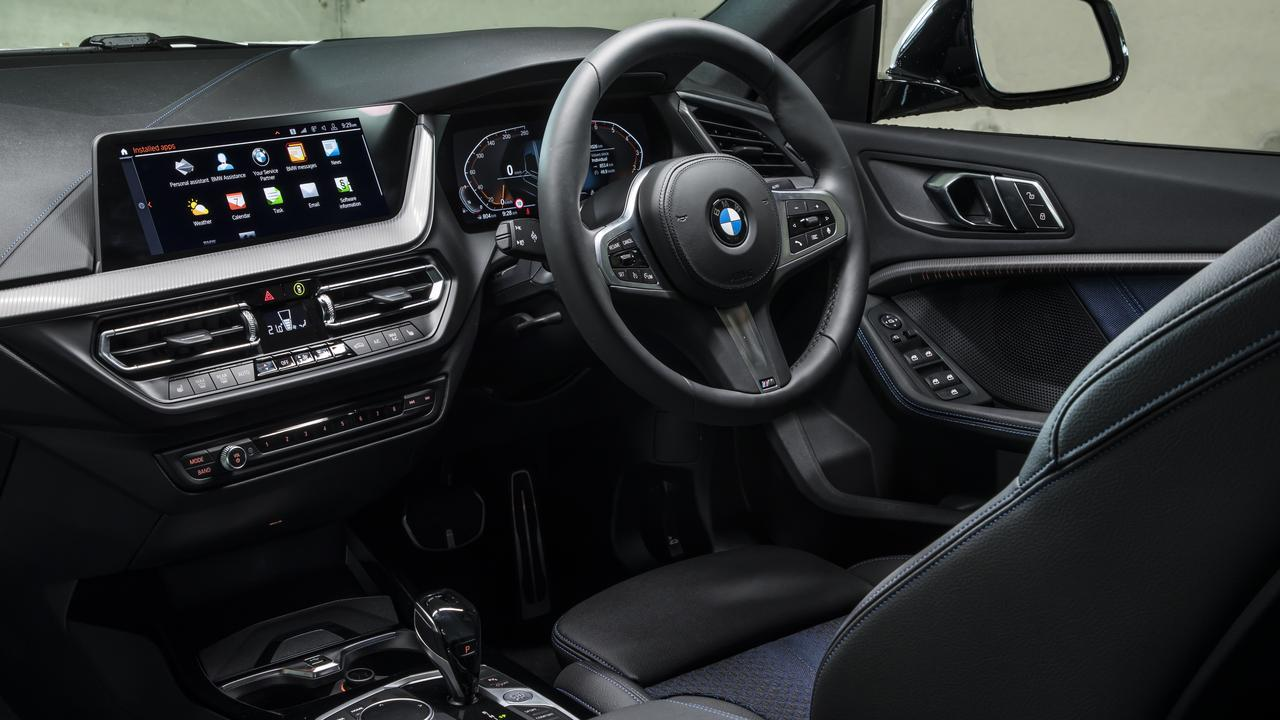 The interior of BMW's 218i Gran Coupe.