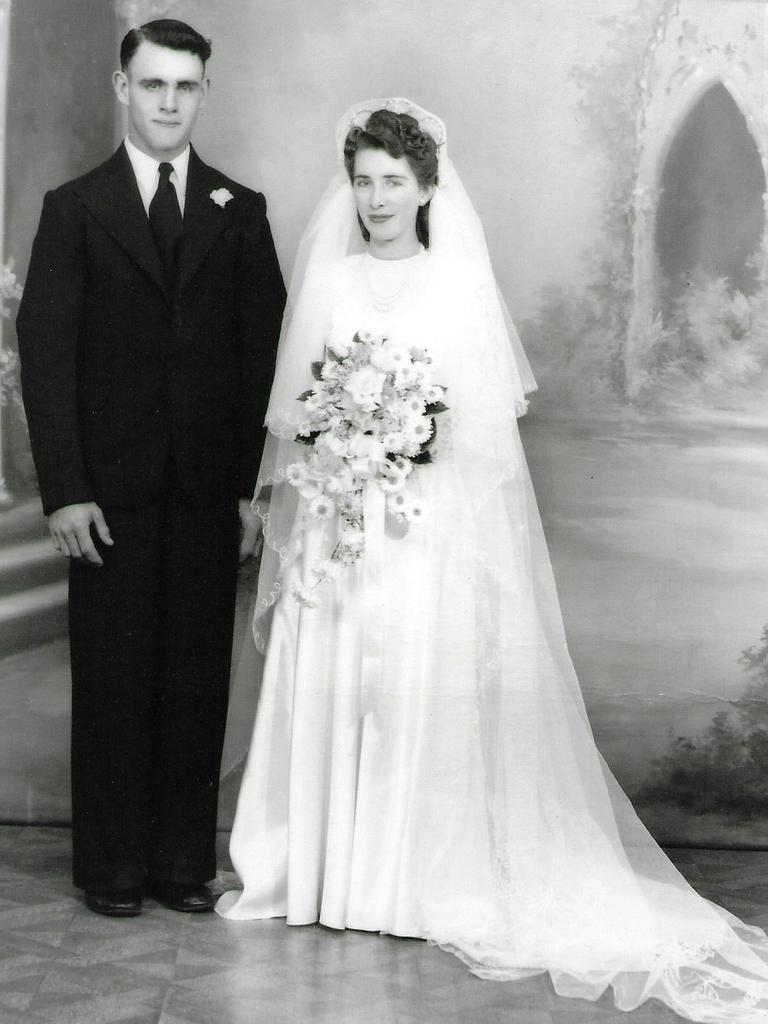 Yvonne Chard and husband Ronald on their wedding day.
