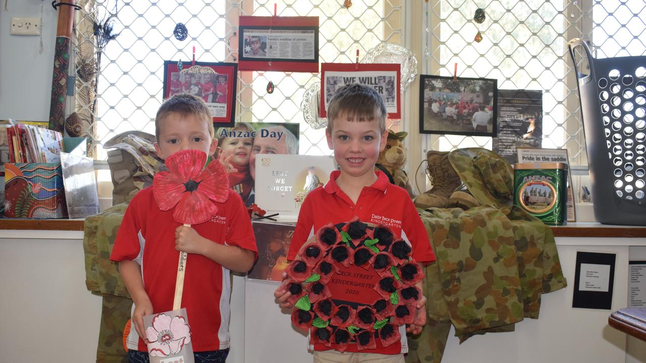 ANZAC DAY: Beck Street Kindergarten have dedicated their arts and crafts to Anzac Day.