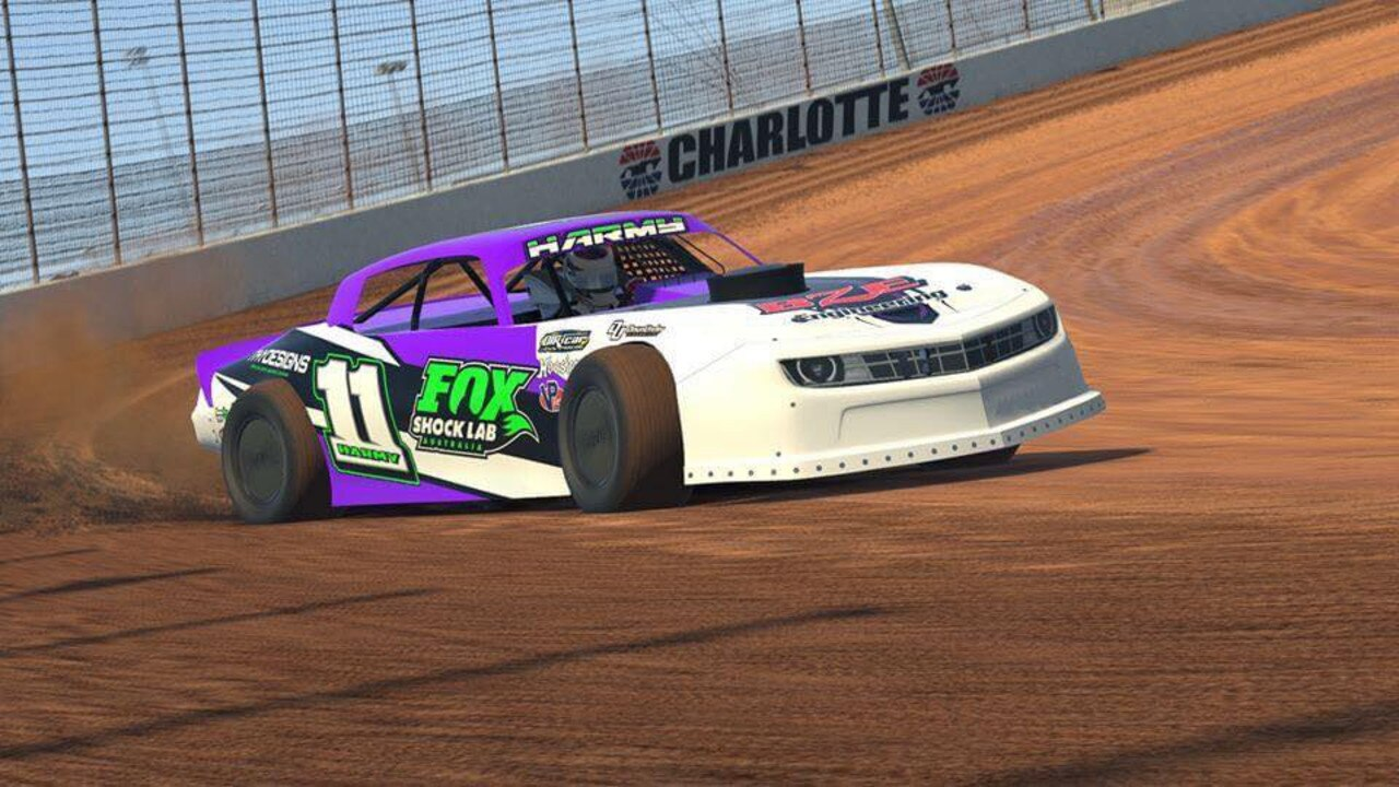 South Burnett's Josh Harm took out the inaugural Kings E Royal with his virtual modified sedan. (Picture: Kingaroy Speedway)