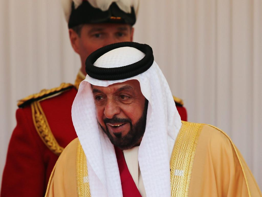The President of the United Arab Emirates, Sheikh Khalifa bin Zayed Al Nahyan. Picture: Getty Images