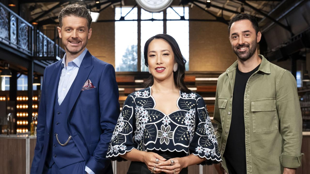 "Roulston said MasterChef Australia judges Jock Zonfrillo, Melissa Leong and Andy Allen are ""lighter hearted"" than Gary, Matt and George. Picture: Channel 10."