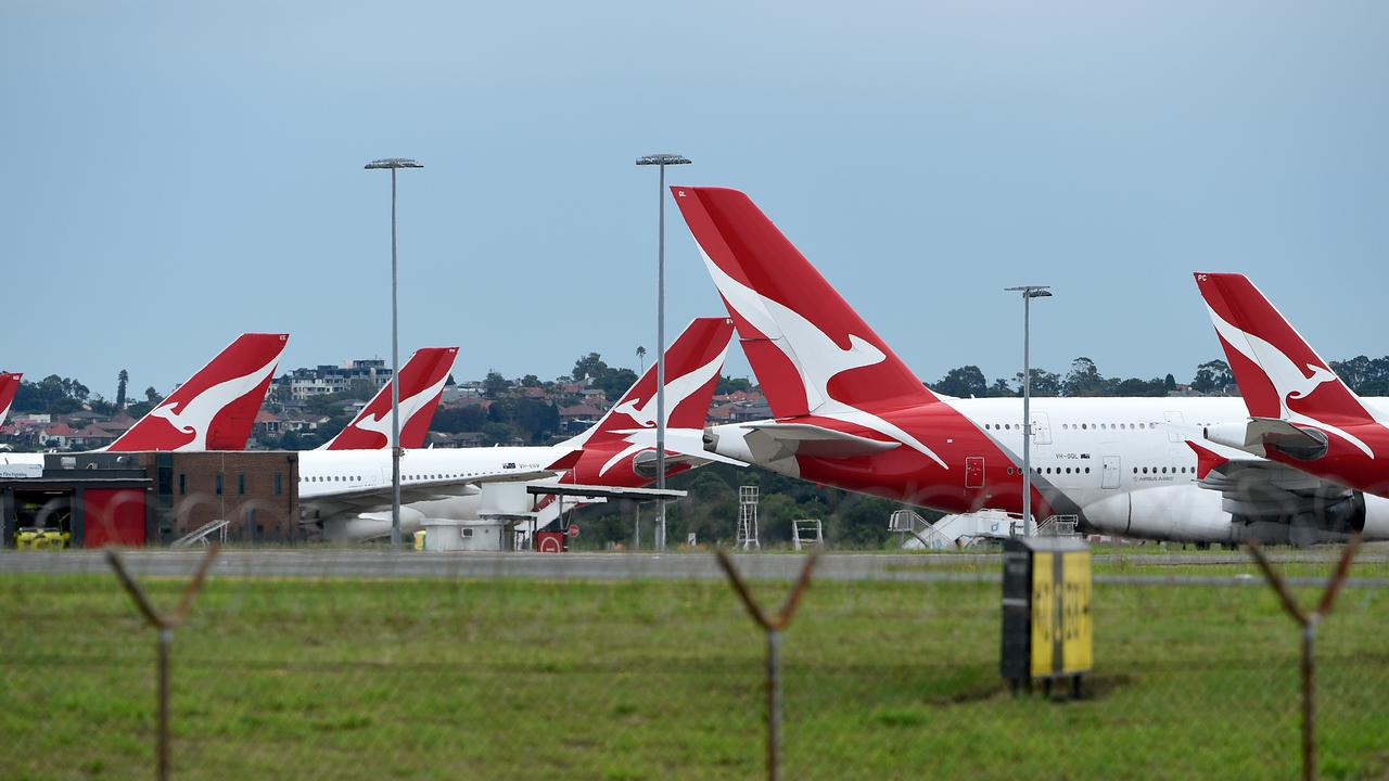 Gifting Qantas a monopoly and not finding a way to bailout Virgin would be shooting ourselves in the foot. Picture: AAP Image/Bianca De Marchi.