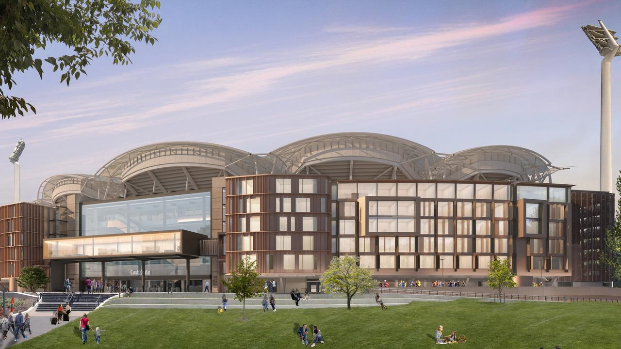 A concept image of the Adelaide Oval Hotel.