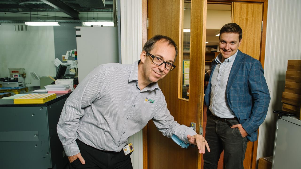 Ellipsis Media Director Robert Keanalley and TSBE Health General Manager Jaden Frame.