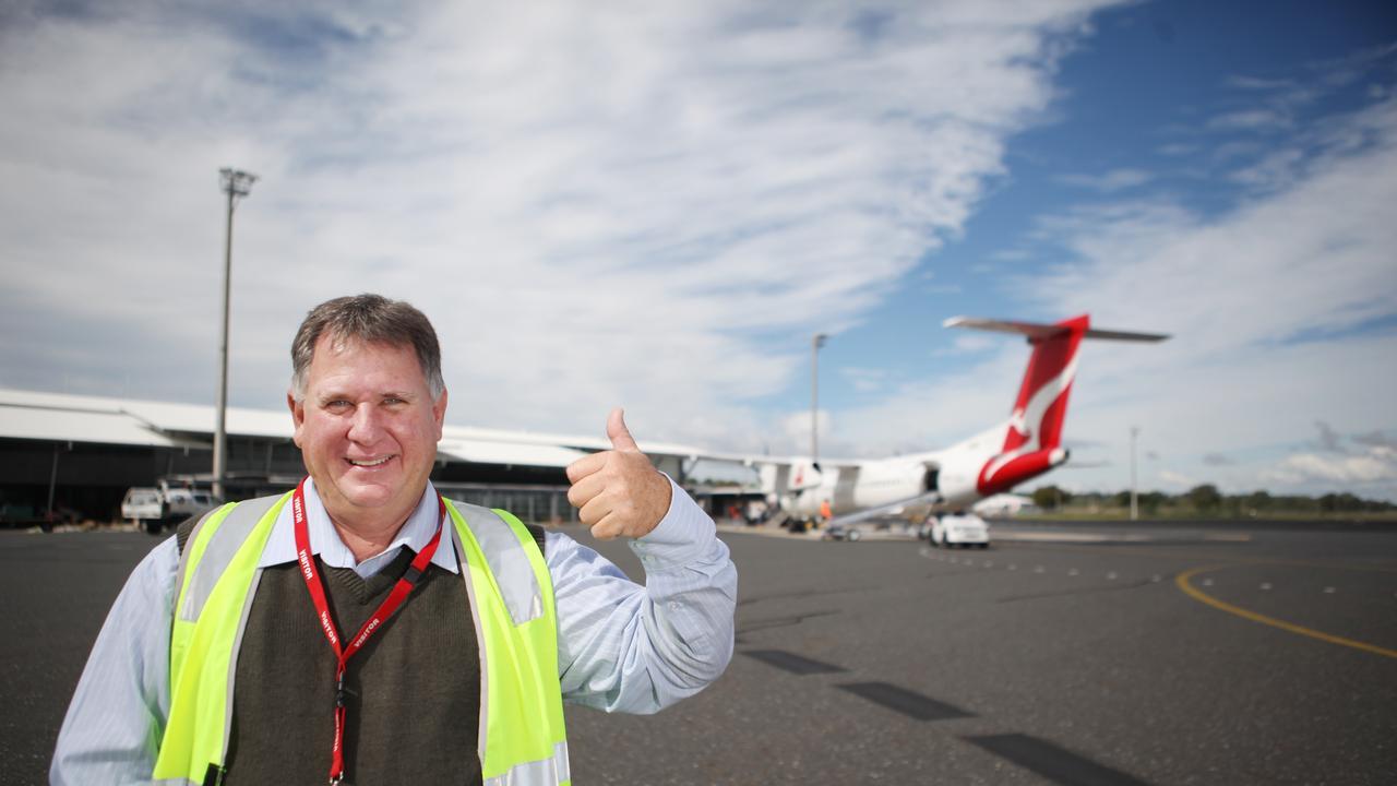 Cr Neil Fisher at Rockhampton Airport. Photo Allan Reinikka.