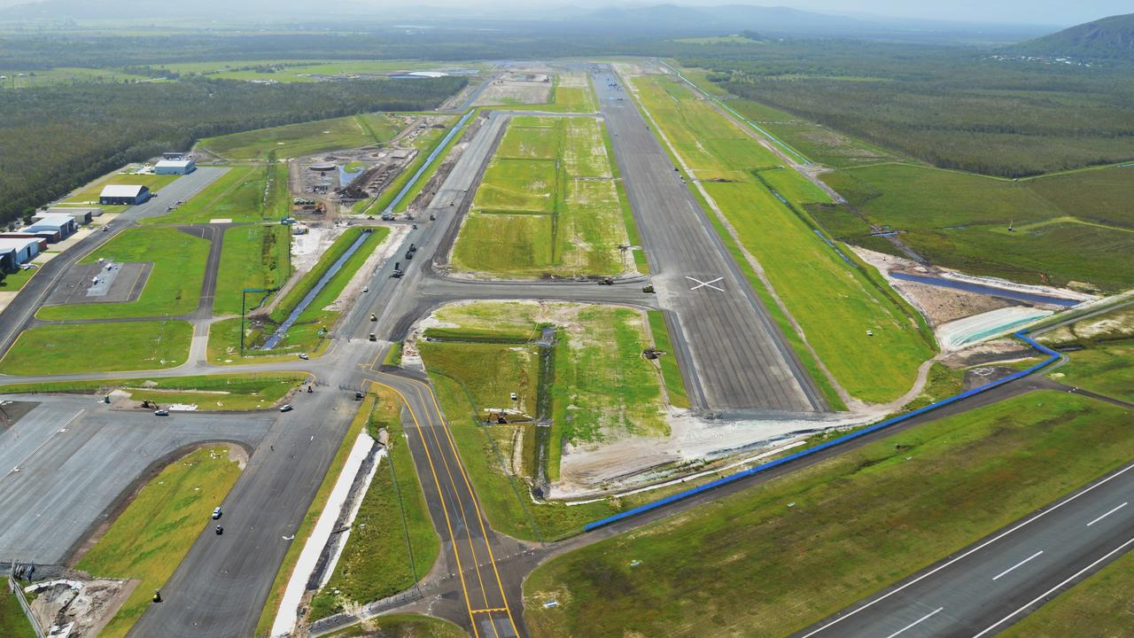 The Sunshine Coast Airport runway is almost complete.
